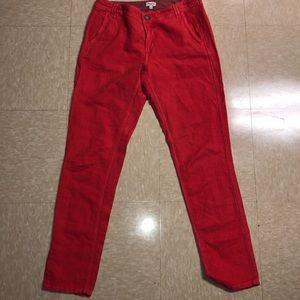 Madewell dark pink skinny jeans